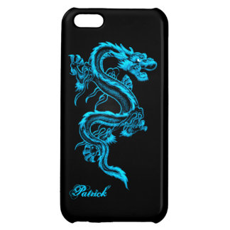 Blue Chinese Dragon iPhone 5 Glossy Case iPhone 5C Cover