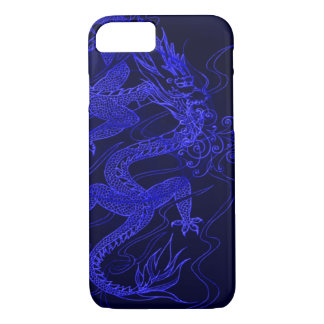 Blue Chinese Dragon iPhone 7 Case