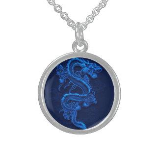 Blue Chinese Dragon Pendants