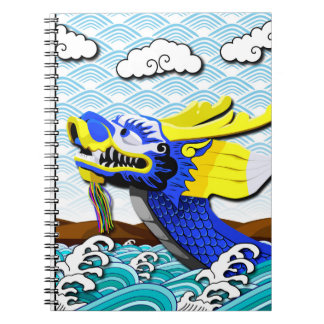 Blue Chinese Dragon - Photo Notebook