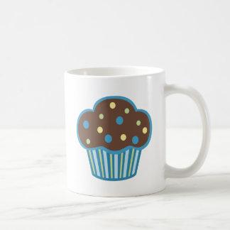Blue Chocolate Cupcake Basic White Mug