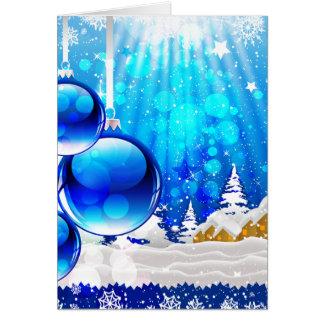 """""""Blue Chrismas"""" Card"""