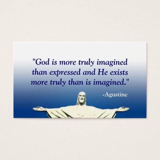 Blue Christian Business Card