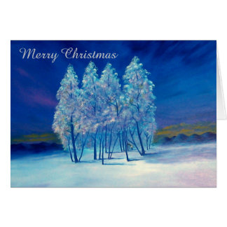 Blue Christmas #4 Greeting Card