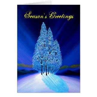 Blue Christmas #7 Greeting Card