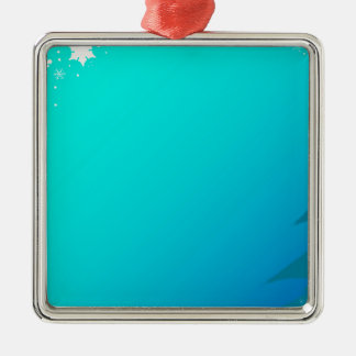 Blue Christmas Background Christmas Ornament