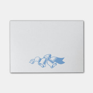 Blue Christmas Bells Sticky Notes Post-it® Notes