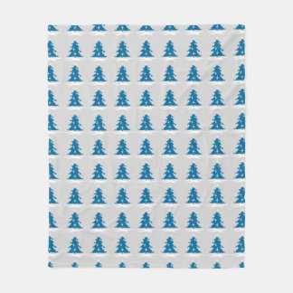 Blue Christmas Blanket Snow Covered Trees Blanket