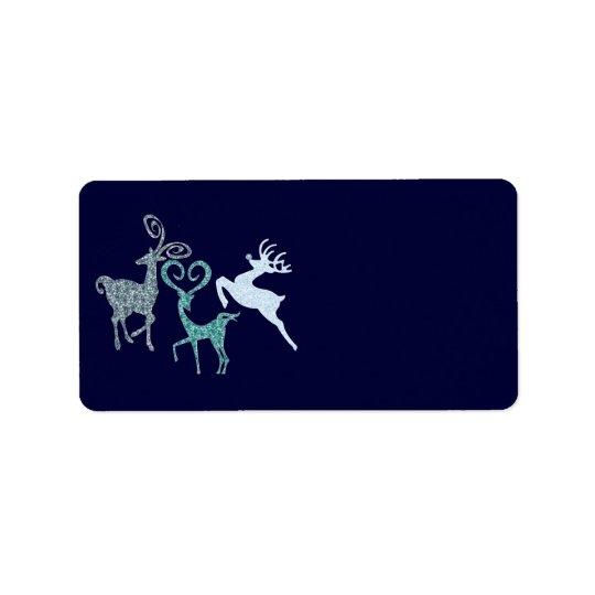 Blue Christmas Elegant Customisable Gifts Label
