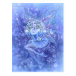 Blue Christmas Fairy Postcard