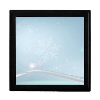 Blue Christmas Gift Box