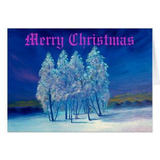 Blue Christmas Greeting Card #4