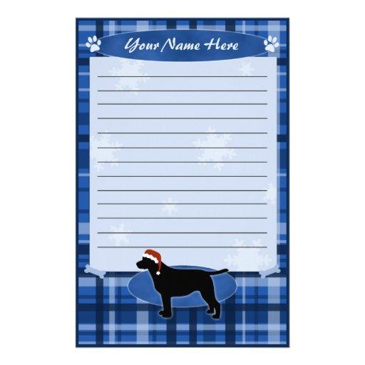 Blue Christmas Labrador Retriever Stationery