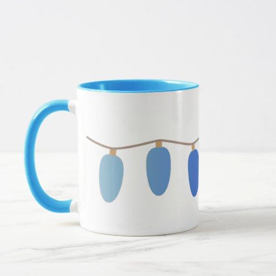 Blue Christmas Lights Mug