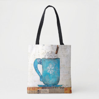 Blue Christmas Mug Tote Bag