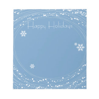 blue Christmas Note Pad