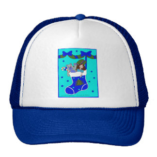 Blue Christmas Stocking Hats