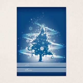Blue Christmas Tree Christmas Gift Tag