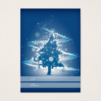 Blue Christmas Tree Christmas Gift Tag Business Card