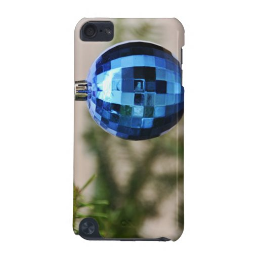 Blue christmas tree ornament iPod touch (5th generation) case