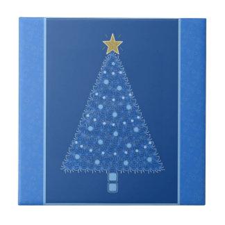 Blue Christmas Tree Tile