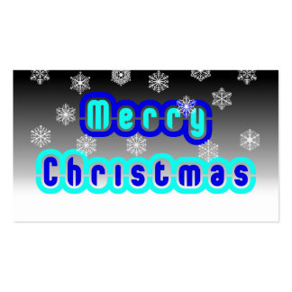 Blue Christmas With Snowflakes Business Card Template
