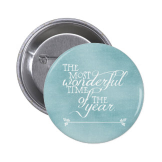 Blue Christmas with Words 6 Cm Round Badge