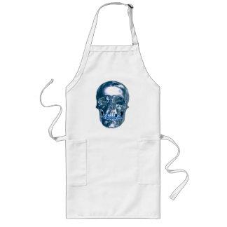Blue Chrome Skull Apron