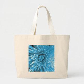 Blue Chrysanthemum Tote Bags