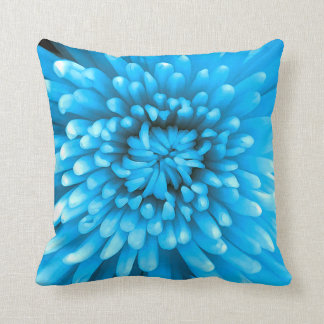Blue Chrysanthemum Cushion