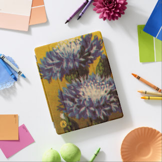 Blue Chrysanthemum iPad Cover