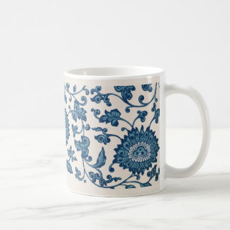 Blue Chrysanthemum Mug