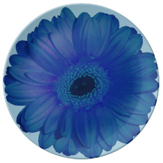 Blue chrysanthemum porcelain plate