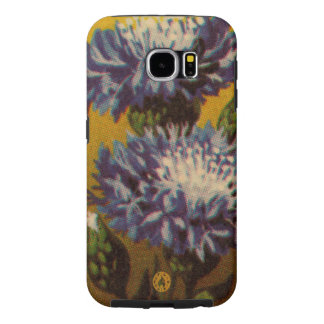 Blue Chrysanthemum Samsung Galaxy S6 Cases