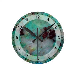 Blue Chrysocolla Jasper Round Clock