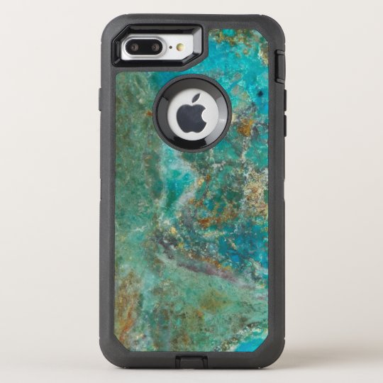 Blue Chrysocolla Mineral Stone Image OtterBox Defender iPhone