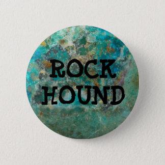 Blue Chrysocolla Stone Rock Hound 6 Cm Round Badge