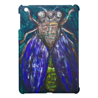 Blue Cicada Surreal Realism insect painting iPad Mini Cases