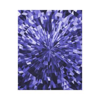Blue Circle and Triangle Geometric Design Canvas Print