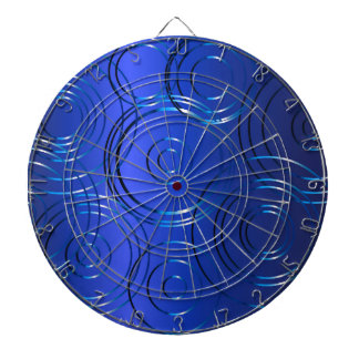 Blue Circle Background Dart Board