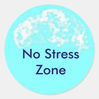 blue circle No Stress Zone Sticker