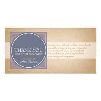 Blue Circle P Square Tags Sympathy Thank you P Photo Card