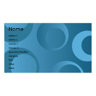 Blue Circles - Business Pack Of Standard Business Cards