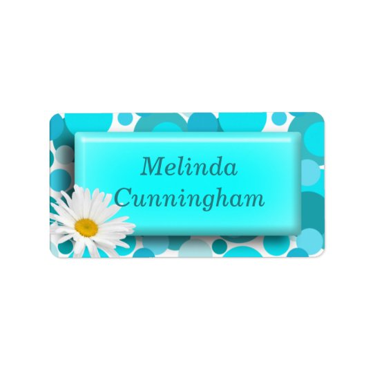 Blue Circles - Girls school name label