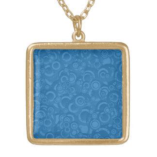 Blue circles necklaces