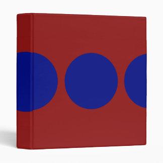 Blue Circles on Red Binder