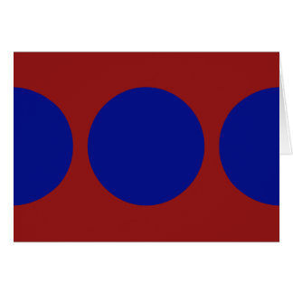 Blue Circles on Red Greeting Card