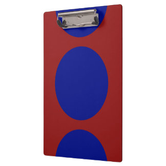 Blue Circles on Red Clipboard