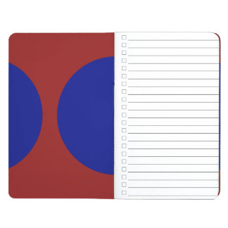 Blue Circles on Red Journal
