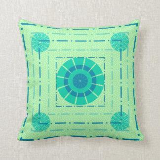 Blue circles pillow